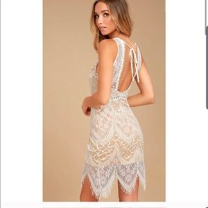 Lush Lace Open Back dress